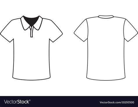 Blank Front And Back Polo T Shirt Design Template Vector Image Polo Shirt Design Template