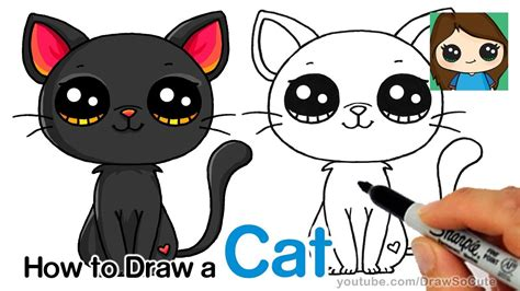 How To Draw A Black Cat