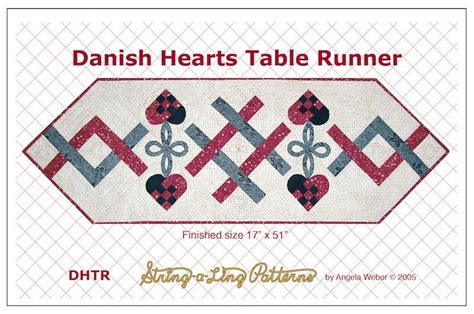 Quilting From The Heartland by Hearts Table Runner Quilting From The Heartland