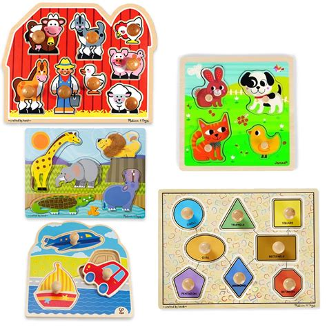 Puzzle Knob Number Type A puzzles for toddlers bundle of 5 jumbo knob wooden puzzles educational toys planet
