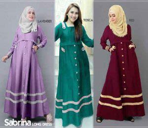 Sale Baju Lumna Dress Balotelly gamis remaja sabrina b067 katun model baju muslim terbaru
