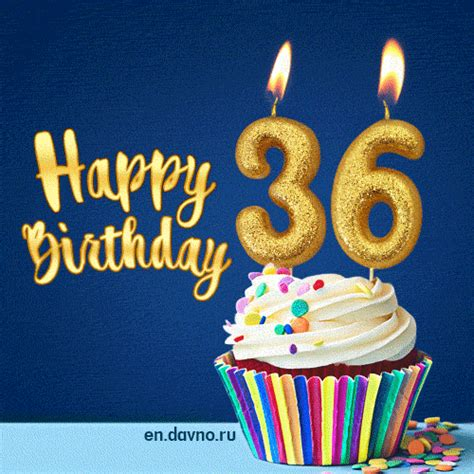 Happy Birthday 36 Years Quotes happy birthday 36 years animated card on
