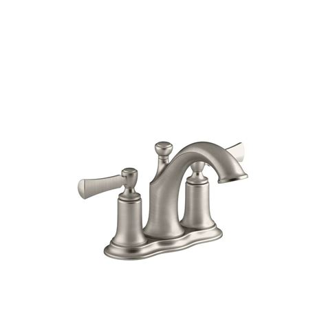 kohler elliston bathroom faucet shop kohler elliston vibrant brushed nickel 2 handle 4 in