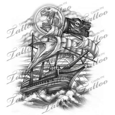 pirate ship tattoo design marketplace pirate ship 16306 createmytattoo