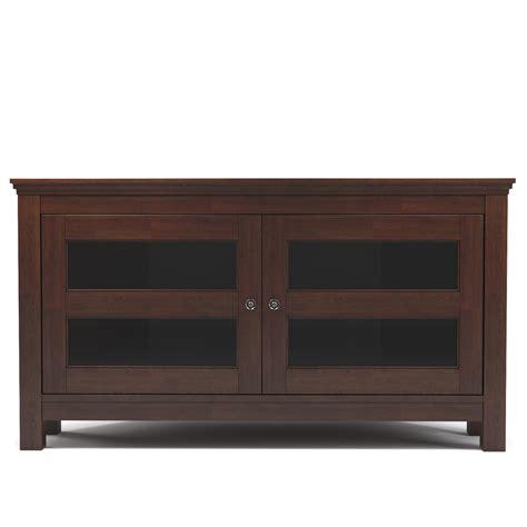 corner console axel 44 inch corner tv console in brown