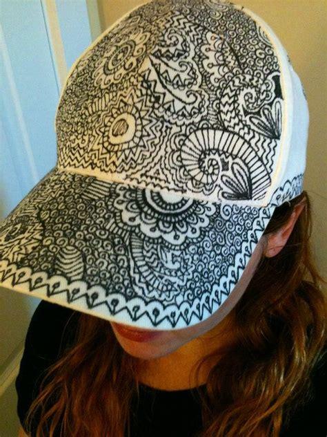 Doodle Hat B flat brim hat hat sharpie hat snapback hat snap