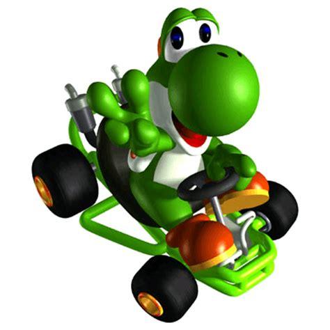 Yoshi Mariokart7 mario kart circuit boy advance artwork including characters karts and items