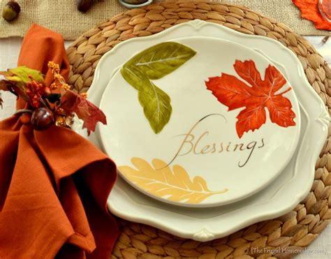 fall table featuring items from the better homes - Better Homes And Gardens Fall Dinnerware