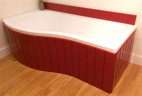 Flexible Bath Panel Ideal For P Shaped Shower Baths Any Colour Finish