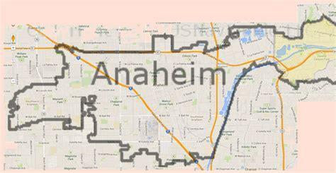 anaheim california map map of anaheim california california map