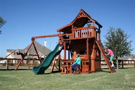 backyard factory swing sets fenceworks