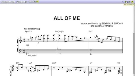 how to play all of me john legend part 2 chorus quot all of me quot by michael bubl 233 piano sheet music teaser