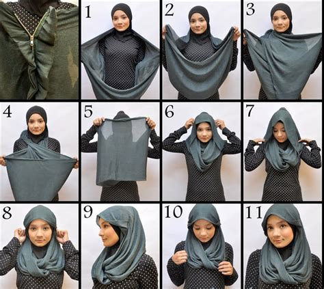 hijab tutorial in trendy style step by step 50 trendy hijab styles tutorial of 2014 2015 how to