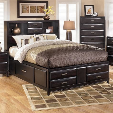 ashley beds ashley furniture kira queen storage bed john v schultz