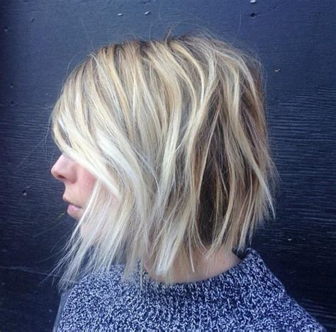 texturized and choppy bob haircut that can be air dryed to be wavy 60 popular choppy bob hairstyles style skinner