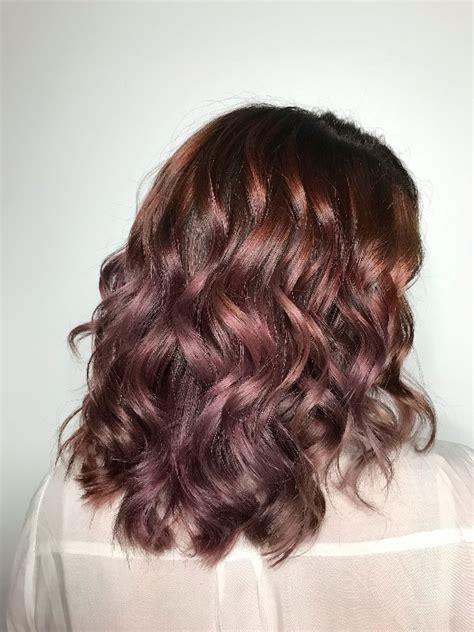 mauve hair color chocolate mauve hair colour trend popsugar australia