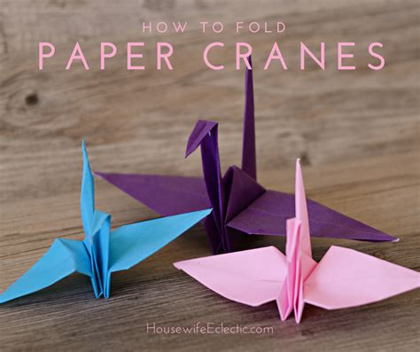 Fold An Origami Crane - how to fold an origami paper crane eclectic