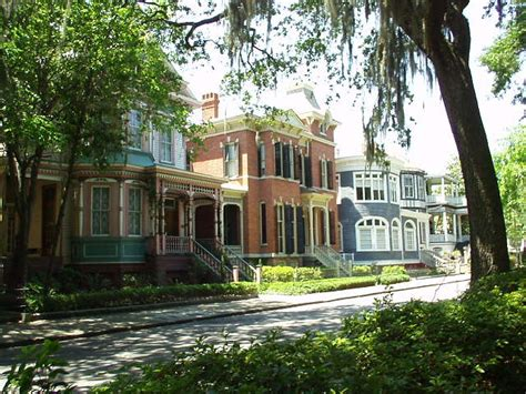 houses in savannah georgia savannah ga houses along forsyth park on whitaker st photo picture image