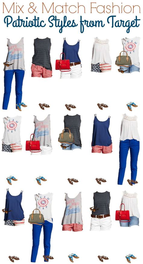 Mix And Match Wardrobe by Summer Patriotic Mix And Match Wardrobe From Target Style On