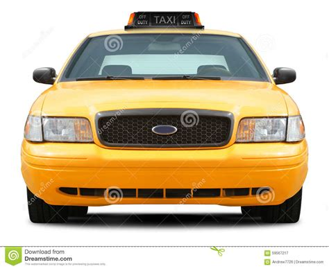 front view yellow taxi car front view stock photo image 59567217