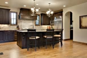 Kitchen Colors Dark Cabinets by Pictures Of Kitchens Traditional Dark Wood Walnut