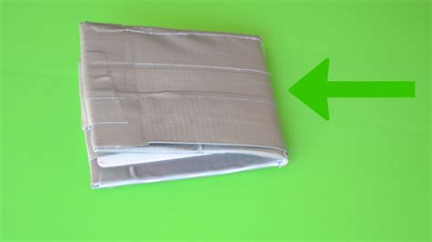 How Do You Make A Wallet Out Of Paper - 3 easy ways to make a duct wallet wikihow