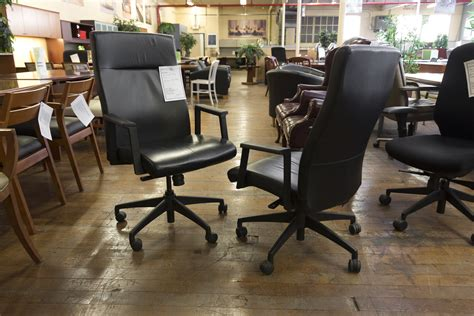 turnstone burton black leather hi back executive chairs
