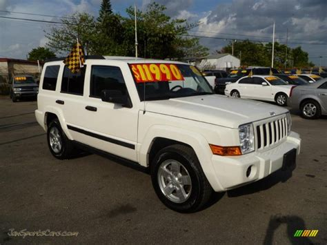 2006 Jeep Commander White 2006 Jeep Commander 4x4 In White 346054 Jax