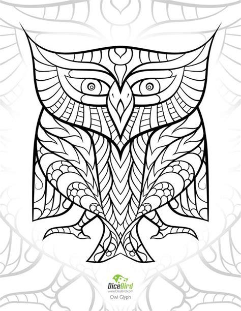 egyptian mandala coloring pages egyptian hieroglyph owl dicebird com free adult printable