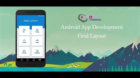 android studio layout id android studio tutorial grid layout and cardview youtube