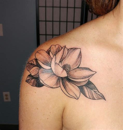 magnolia tattoo magnolia flower by siobhan ideas
