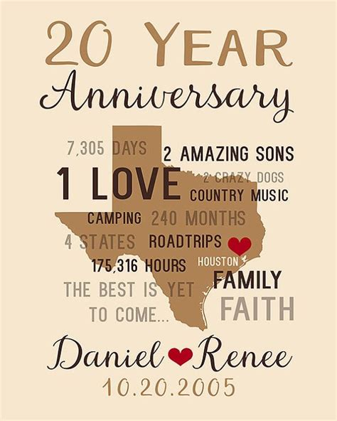 20th Wedding Anniversary Gift Ideas For A by 39 Best Images About 20th Anniversary Gift Ideas On