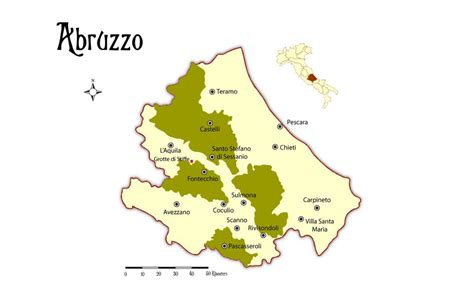 map of pescara italy map and places to go in the abruzzo region in italy