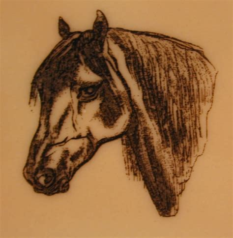 horse head tattoo simple