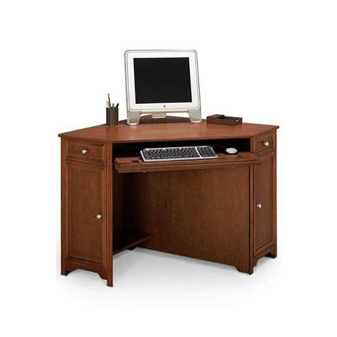 Corner Computer Desk For Home Home Decorators Collection Oxford Chesnut 50 In W Corner Computer Desk 5953900970 The Home Depot