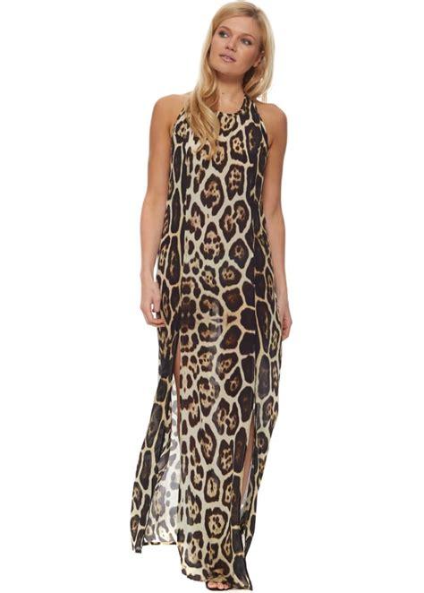 Dress Jaguar Premium parides safari jaguar maxi dress designer animal print maxi dress