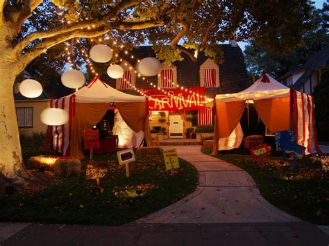 decorations christmas carnivals creepy carnival tents for an outdoor halloween theme hgtv
