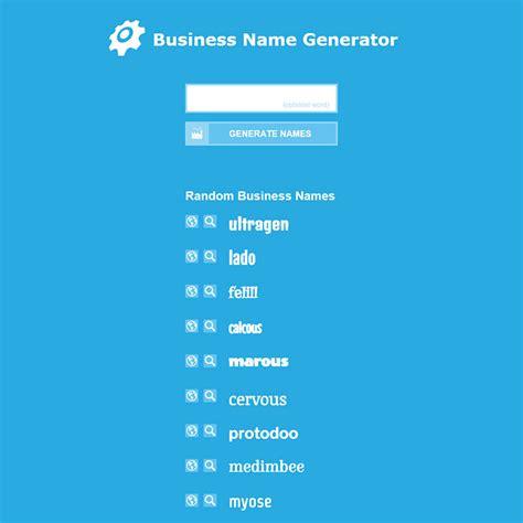 business creator business name generator www pixshark images