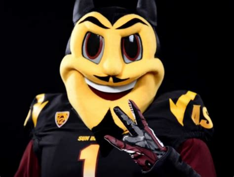 sparky the asu unveils new sparky the sun mascot design created with disney house of sparky