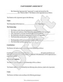 Formal Partnership Agreement Template printable sample partnership agreement template form