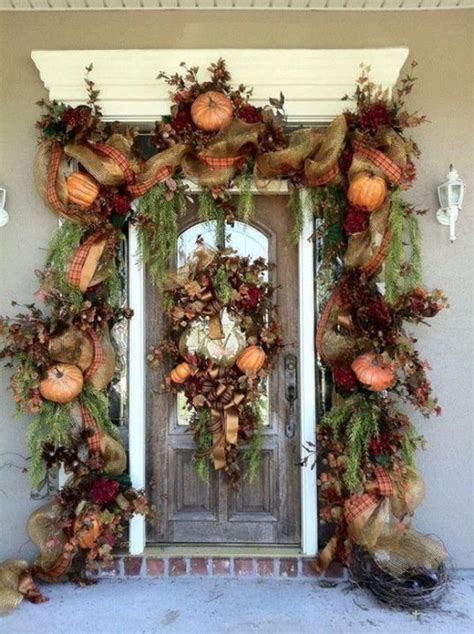 Front Door Wall Decor by 30 Cozy Thanksgiving Front Door D 233 Cor Ideas Digsdigs