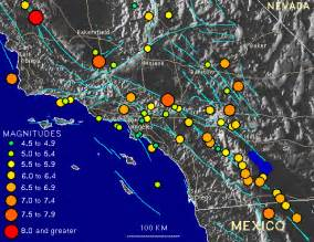 earthquake map of california a decade of notable california earthquakes