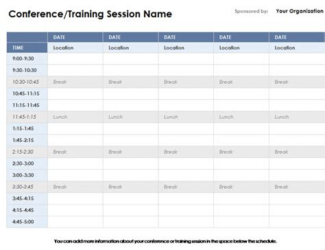 conference room schedule template weekly calendar