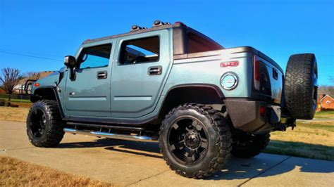 lifted hummer h2 sut crew 4x4 sunroof tow submodel suv