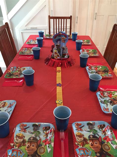Paw Patrol Table Decorations Ideas