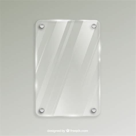 glass frame in realistic style vector free