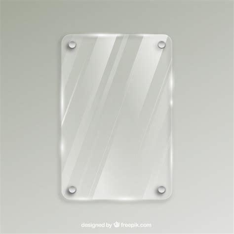 cornici in vetro cornice di vetro in stile realistico scaricare vettori