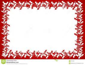 Snowflake Lace Curtains Red White Holly Leaf Frame Or Border Royalty Free Stock