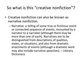 Creative Nonfiction Essay Exles by Creative Nonfiction Intro Lesson