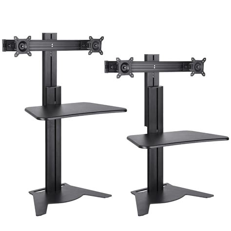 sit to stand adjustable desk riser adjustable height sit stand work computer double monitor